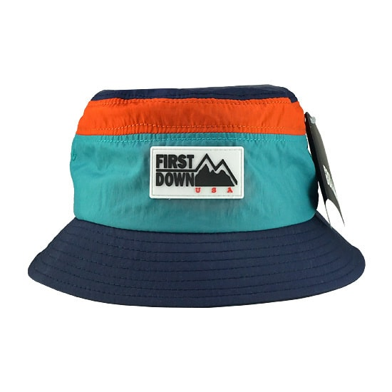FIRST DOWN バケットハット - WASHER BUCKET HAT / NAVY -