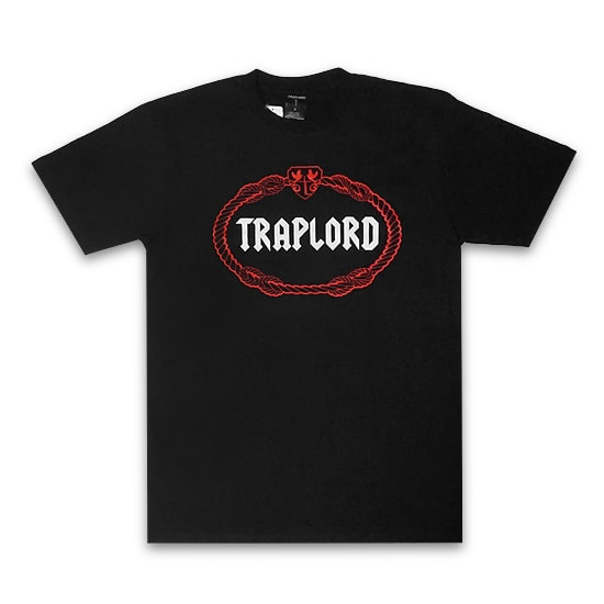 TRAP LORD Tシャツ-100% COTTON CLASSIC CREST TEE / BLACK-