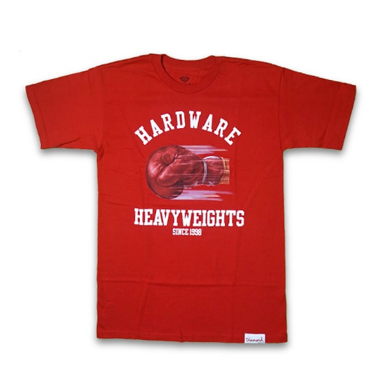DIAMOND SUPPLY CO. Tシャツ -KNOCKOUT TEE / RED-