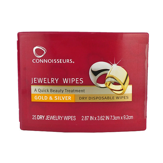 Connoisseurs『Jewelry Wipes』ジュエリーワイプス 25枚入 Jewelry Cleaner ジュエリークリーナー