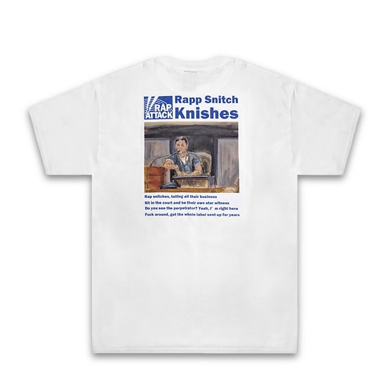 "RAP ATTACK Tシャツ -""Rapp Snitch Knishes""Tee / WHITE-"