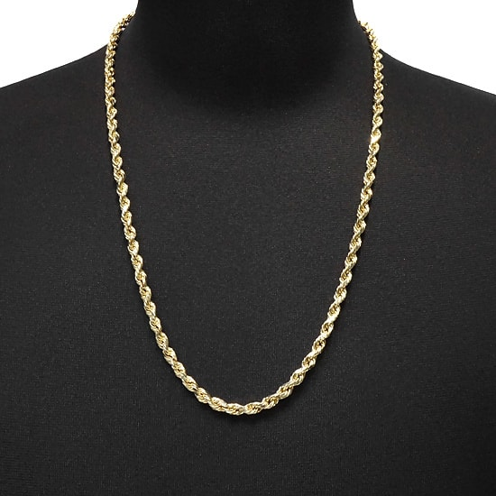 10K Yellow Gold Hollow Rope [65cm]