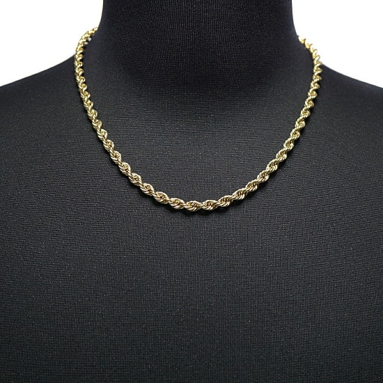 10K Yellow Gold Hollow Rope [50cm]