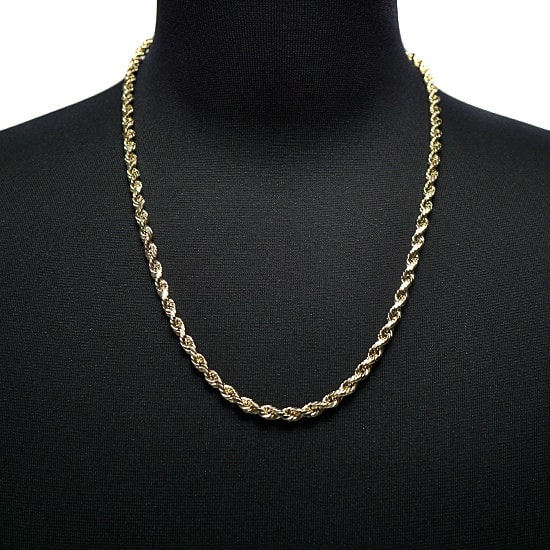 10K Yellow Gold Hollow Rope [60cm]