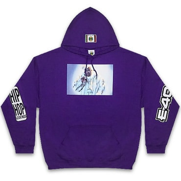 Cross Colours パーカー -90S LEGEND E40 FUR JACKET HOODIE / PURPLE-