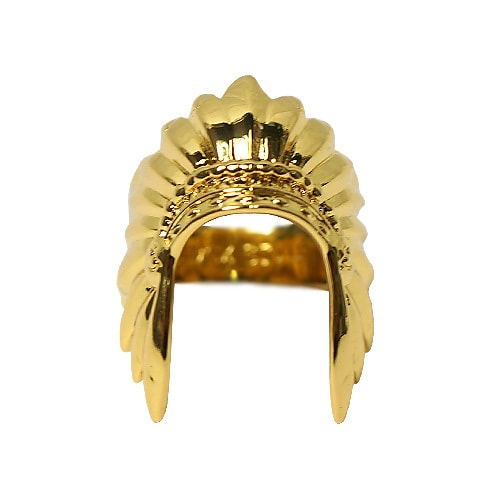 BLACK SCALE リング - WARBONNET RING / GOLD -