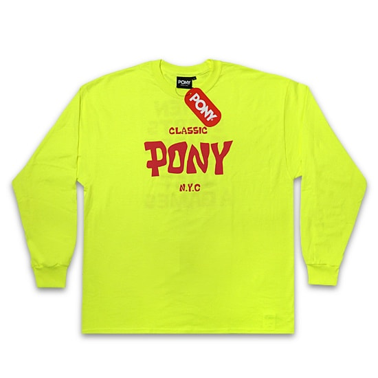 PONY ロンT - MUSICAL LOGO L/S / LIME -