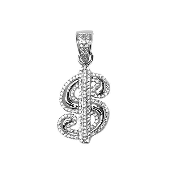 [7ST003]Silver トップ - Dollar Sign -