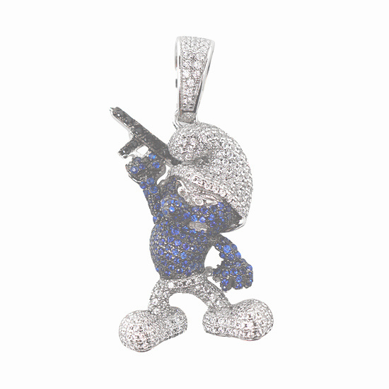Silver トップ - SMURF -