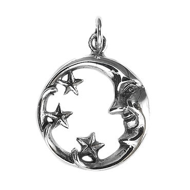 Silver トップ- Moon&Star -