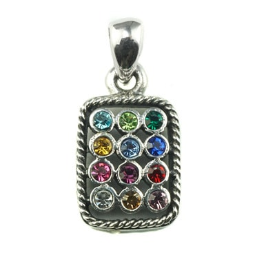 Silver トップ-  Colorful Square -