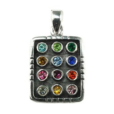Silver トップ  - Colorful Square -