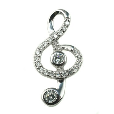 Silver トップ - Treble Clef -