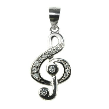 Silver トップ - Treble Clef-