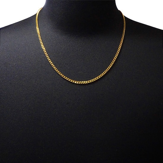 Silver Gold ネックレス 喜平 3mm [55cm]