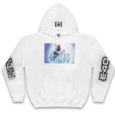 Cross Colours パーカー -90S LEGEND E40 FUR JACKET HOODIE / WHITE-
