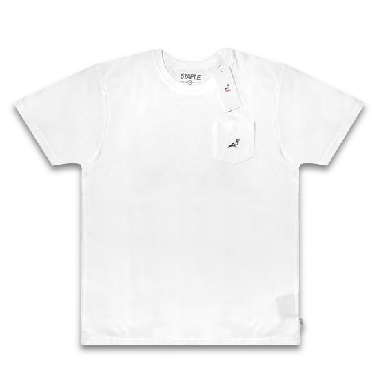 STAPLE Tシャツ - MINI LOGO POCKET TEE / WHITE -