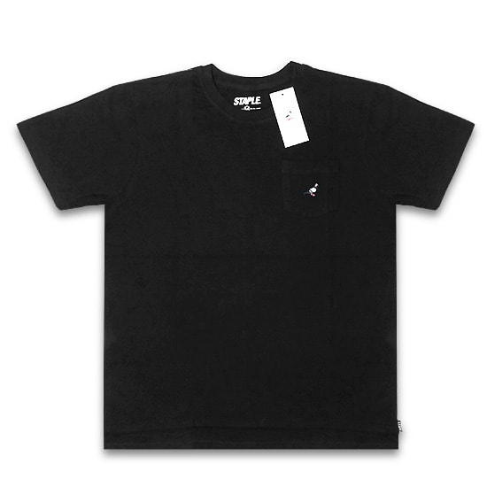 STAPLE Tシャツ - MINI LOGO POCKET TEE / BLACK -