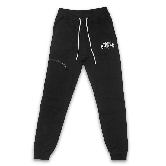 STAPLEパンツ - COLLEGIATE PIGEON SWEATPANT / BLACK -
