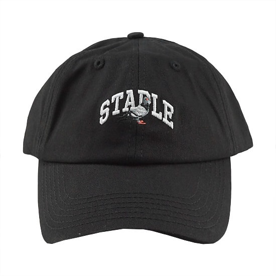 STAPLE キャップ - COLLEGIATE PIGEON DAD CAP / BLACK -